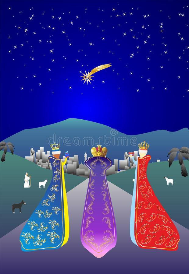 Drei Könige stock abbildung