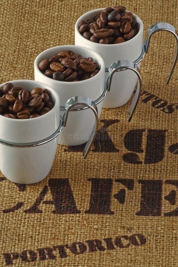 Drei Kaffeetassen stockfotografie