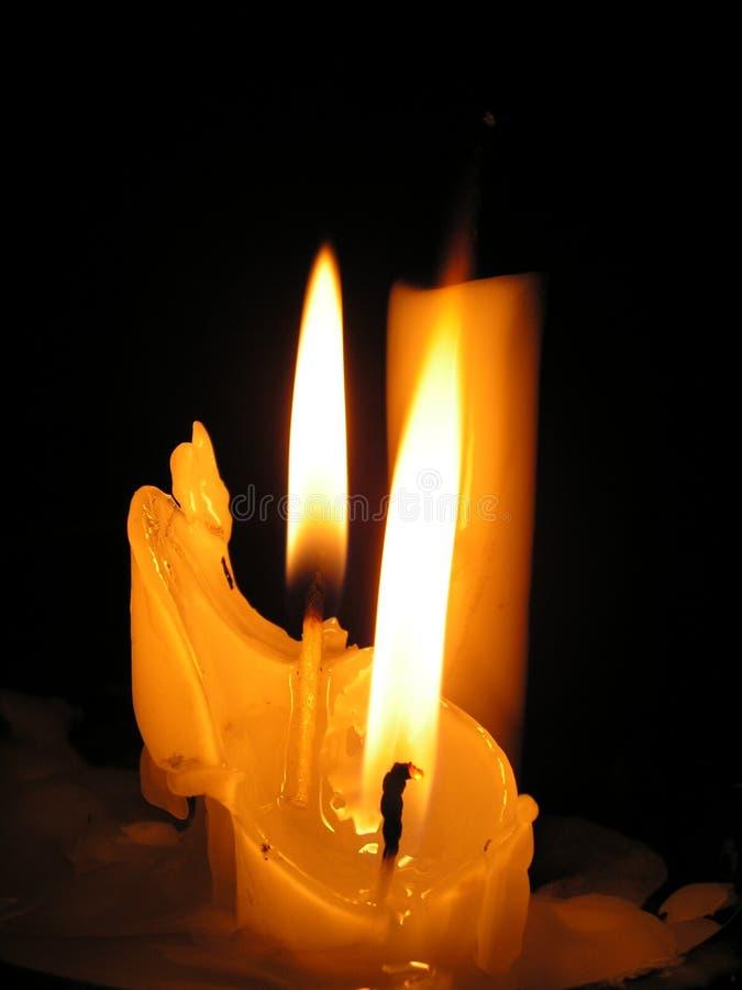 Drei Kerzen   lizenzfreie stockbilder