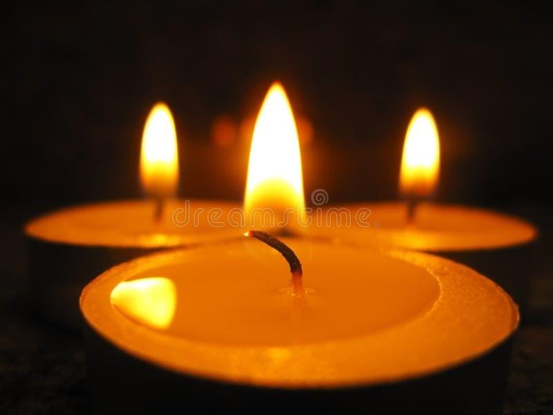 Drei Kerzen stockfotos