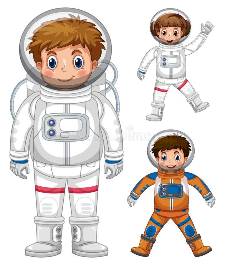 astronaut whith eine rakete vektor abbildung