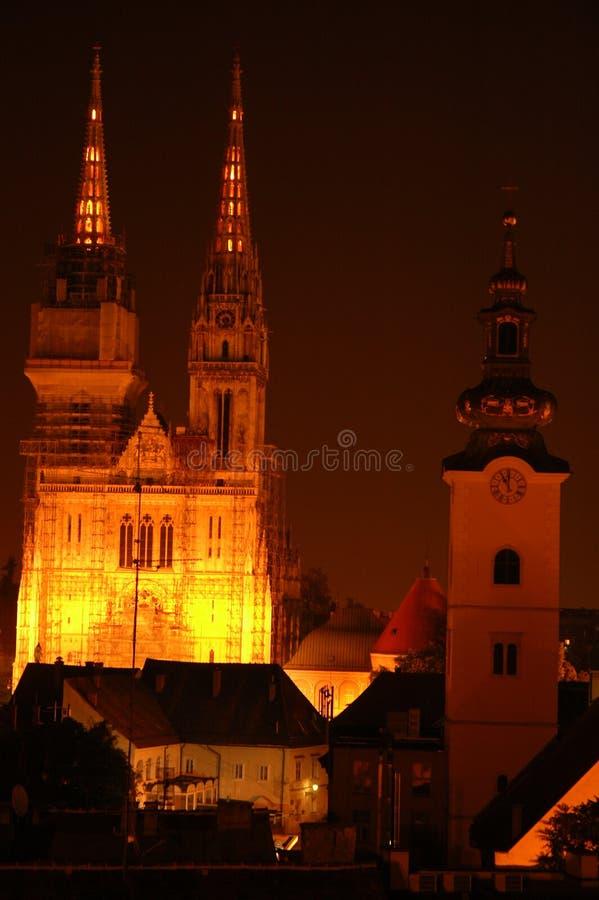Drei Kirchen stockbild