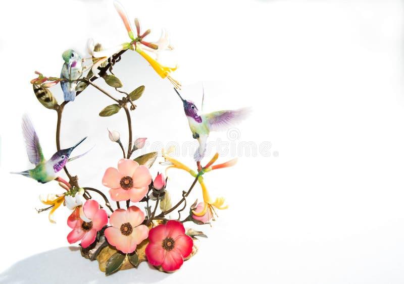 Drei kleine Kolibris lizenzfreies stockfoto