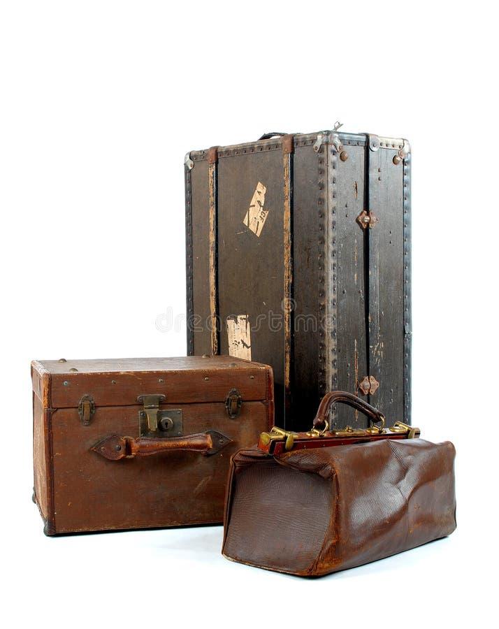 Drei Koffer stockfoto