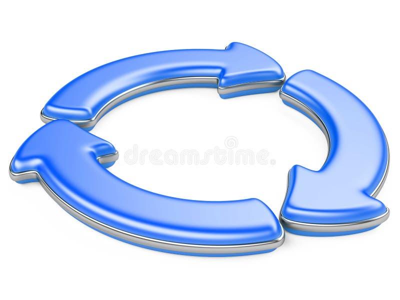 Drei Kreispfeile lizenzfreie abbildung
