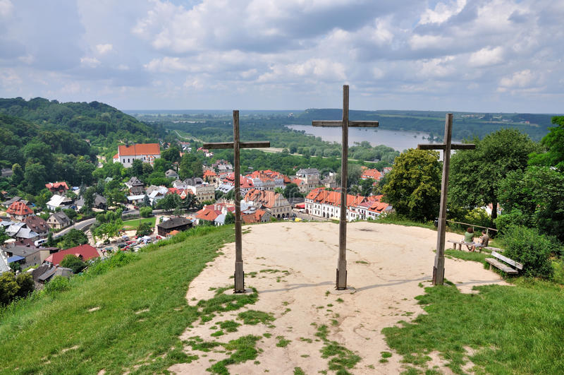 Drei Kreuz-Hügel lizenzfreie stockfotografie
