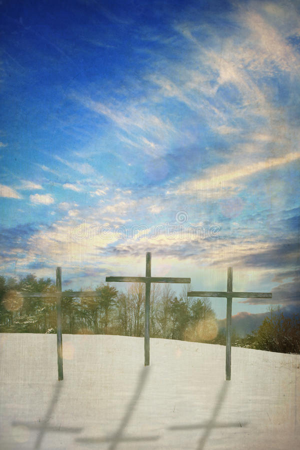 Drei Kreuze lizenzfreie stockbilder