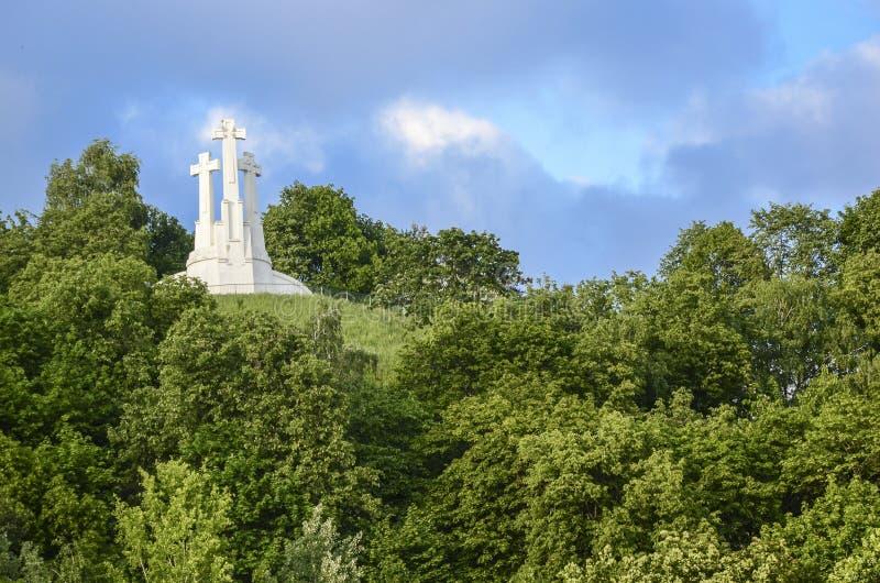 Drei Kreuze Vilnius lizenzfreies stockbild