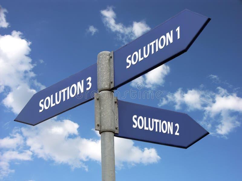 Drei Lösungen lizenzfreie stockbilder