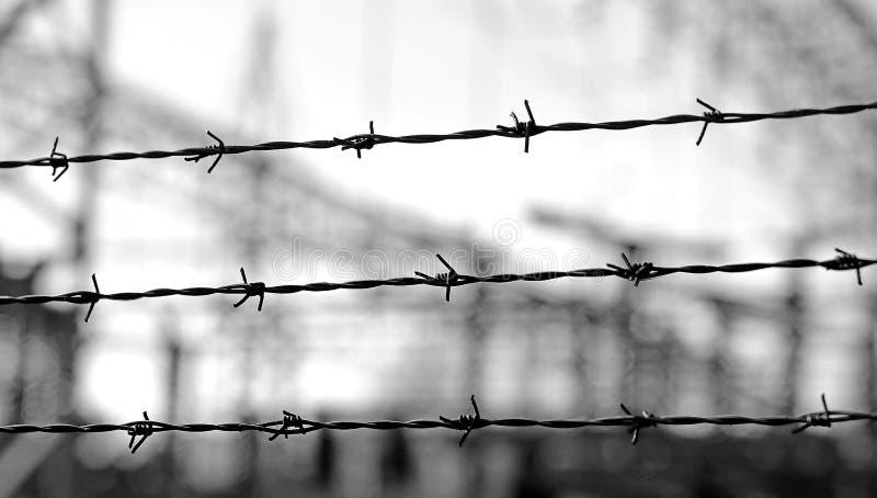 Drei Linien Stacheldraht, Zum Der Grenze Während Des Wa Abzugrenzen ...