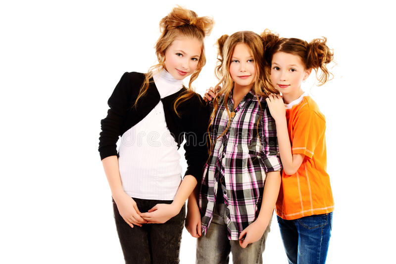 Drei Mädchen stockbild