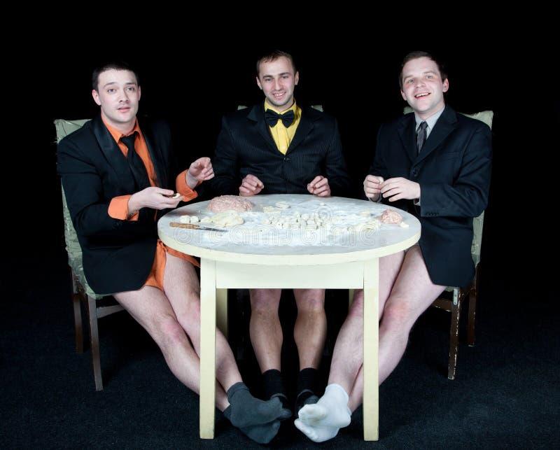 Drei Männer lizenzfreies stockbild
