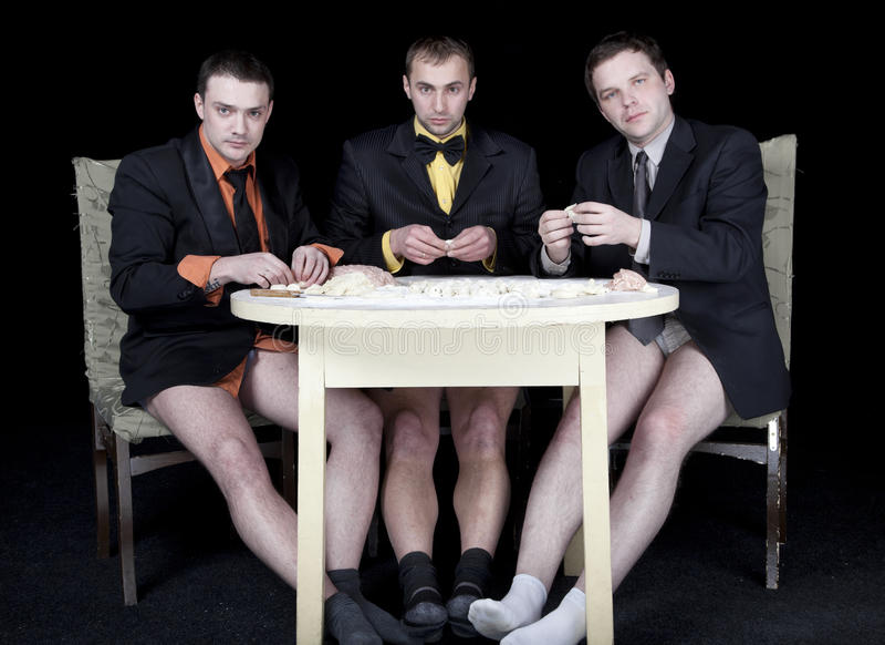 Drei Männer stockfotos