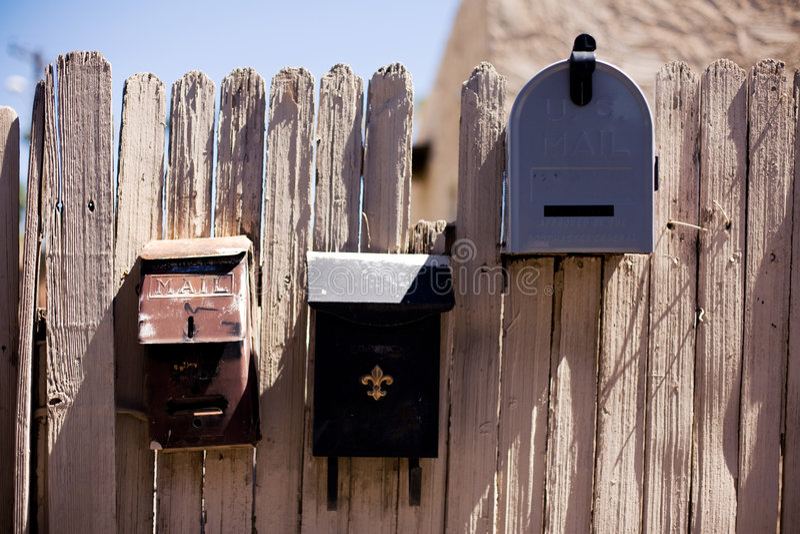 Drei Mailboxes lizenzfreie stockfotografie