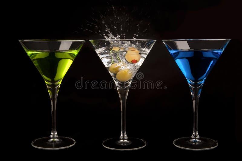 Drei Martinis stockbild
