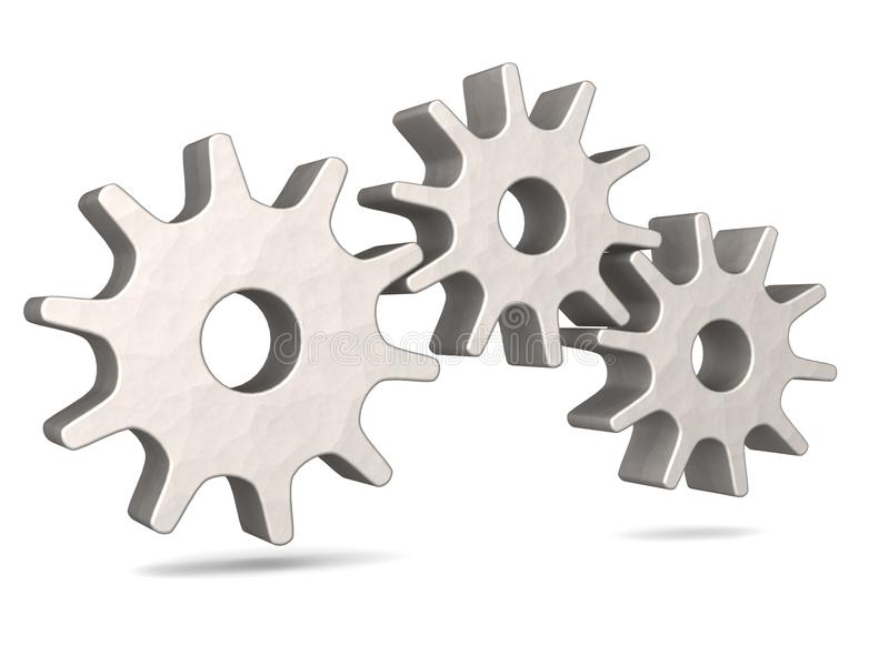 Drei Metallgänge lizenzfreie abbildung