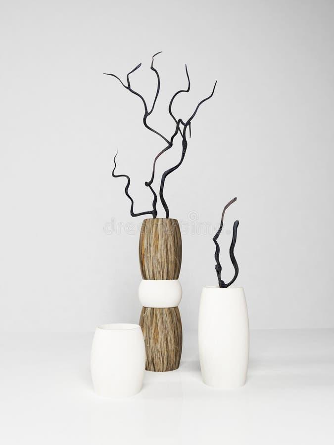 Moderne Vasen drei moderne vasen stock abbildung illustration schönheit