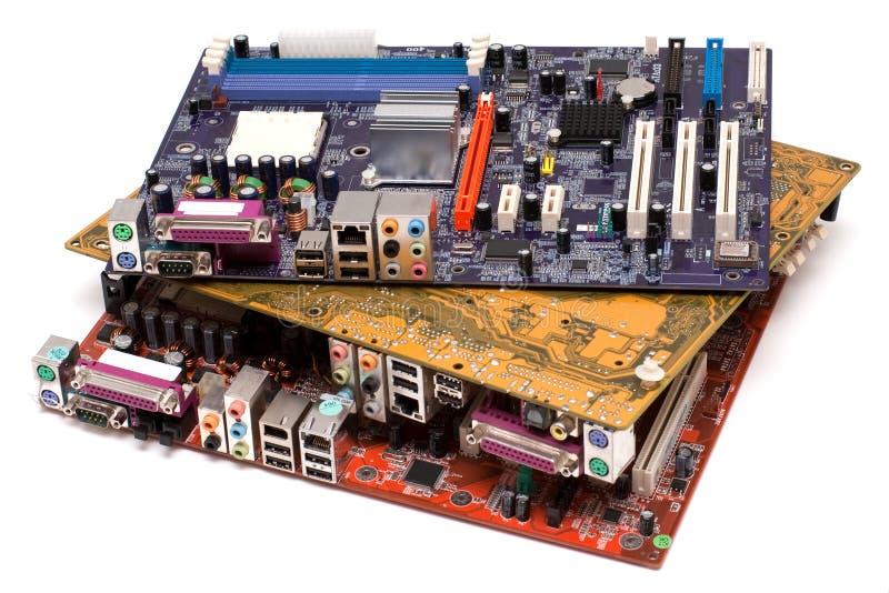 Drei Motherboards lizenzfreie stockfotografie