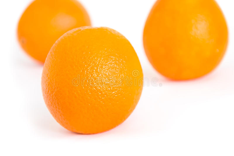 Drei Orangen lizenzfreie stockfotos