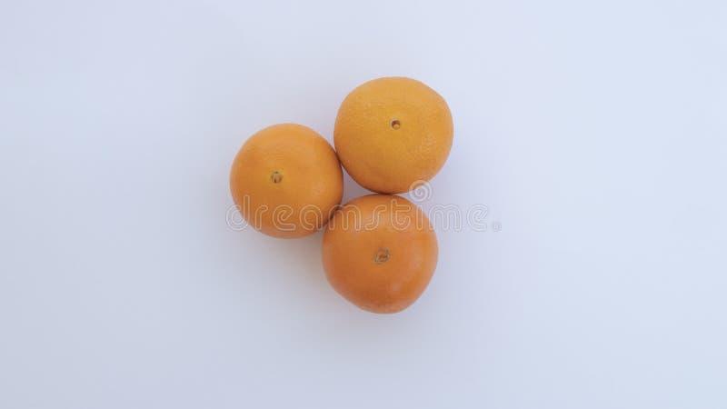 Drei Orangen stehen heraus neben einander lizenzfreie stockfotografie