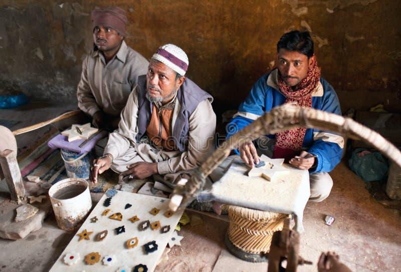 Drei Originale Ausschnittmarmor in Agra stockfotografie