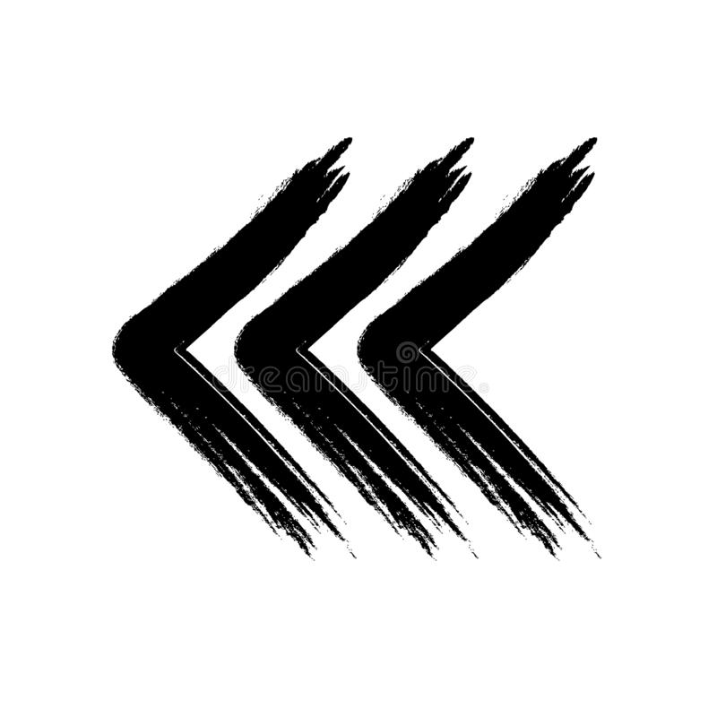 Drei Pfeile machten Schmutzart schwarzes weißes vektor abbildung
