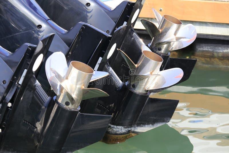 Drei Propeller Schiff lizenzfreies stockbild