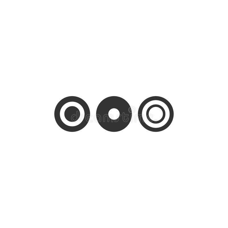 Drei Punkte oder Auslassungszeichen. Schwarzes Flachsymbol für Nachricht oder Zitatblase. Abisoliert auf weiß stockbilder