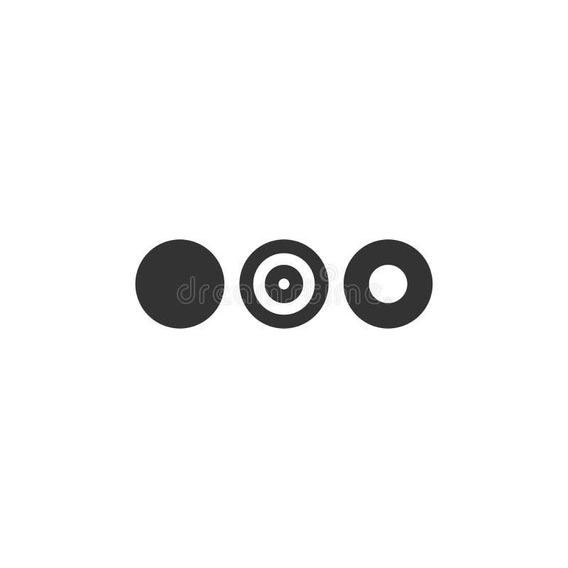 Drei Punkte oder Auslassungszeichen. Schwarzes Flachsymbol für Nachricht oder Zitatblase. Abisoliert auf weiß lizenzfreie stockfotos