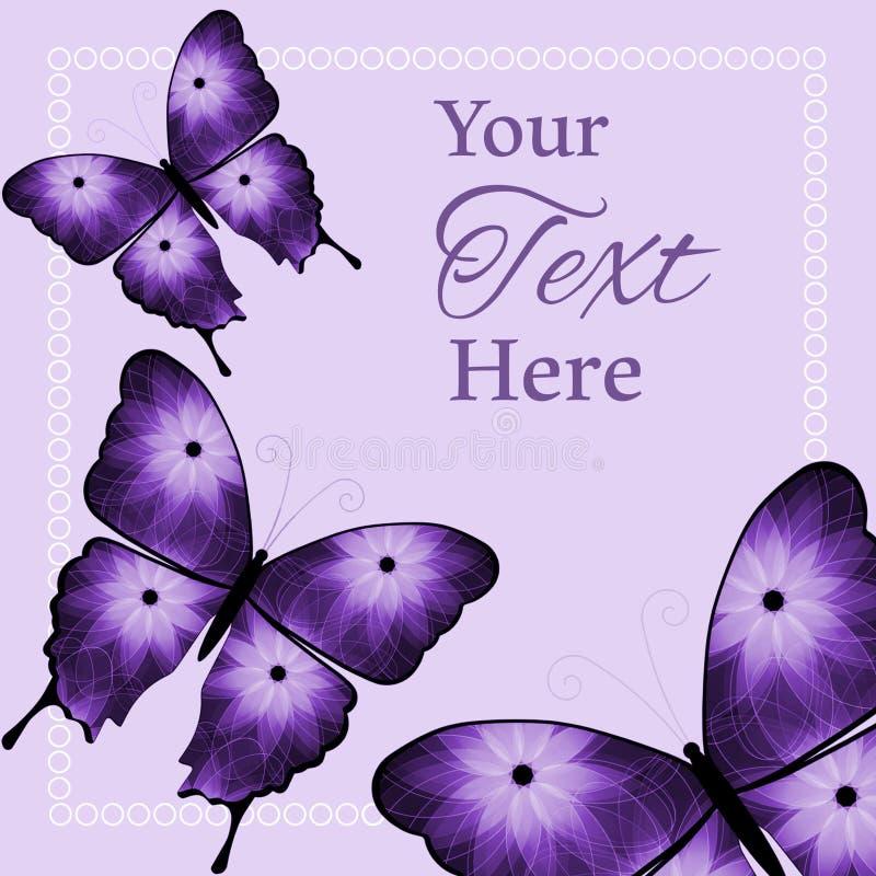 Drei purpurrot und schwarzer Blumen-Schmetterlings-Hintergrund stockfotografie