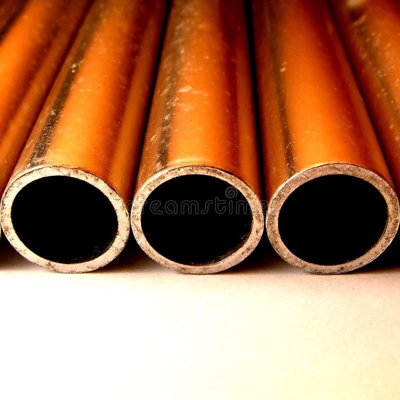 Download Drei Rohre stockfoto. Bild von zinn, zylinder, kratzer, linear - 27562