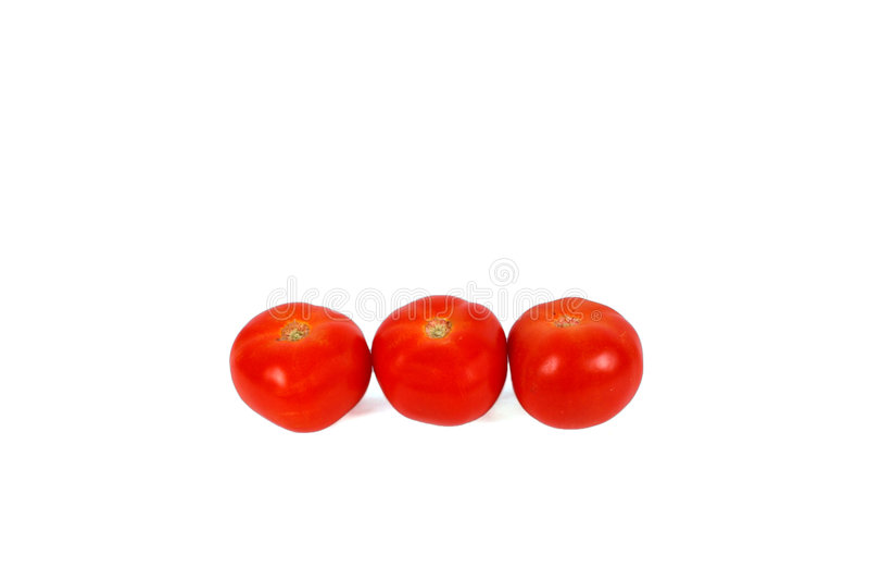 Drei rote Tomaten lizenzfreies stockbild