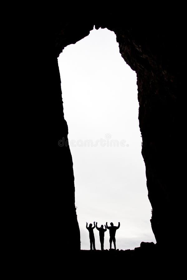 Drei Schattenbilder lizenzfreie stockfotos