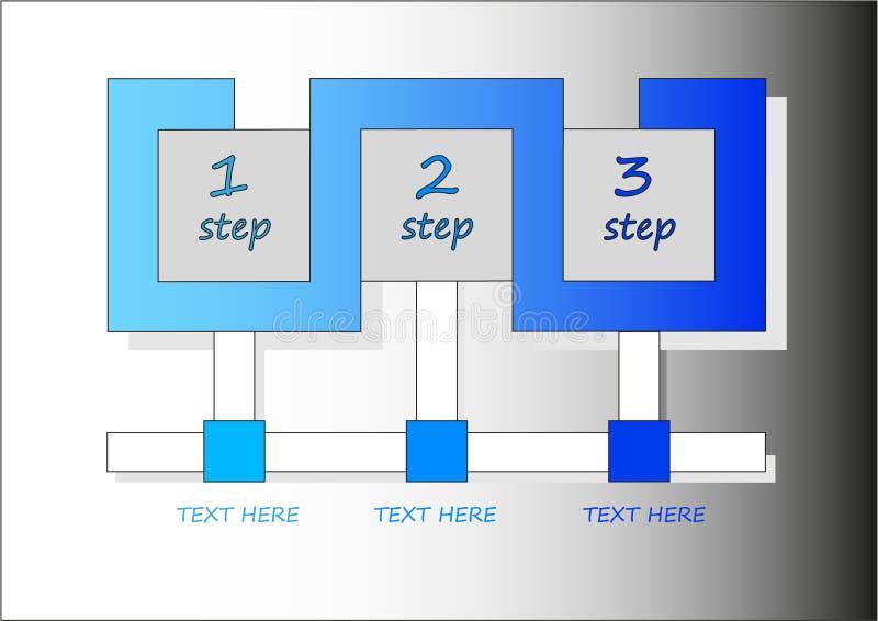 Drei Schritte infographics lizenzfreie stockfotos