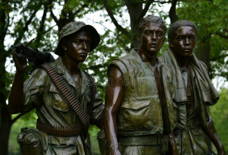 Drei Soldat-Statuen-Vietnam-Veterane Erinnerungs stockfotos