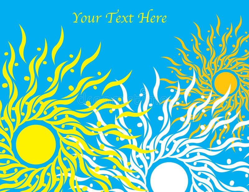 Drei Sonnen lizenzfreie abbildung