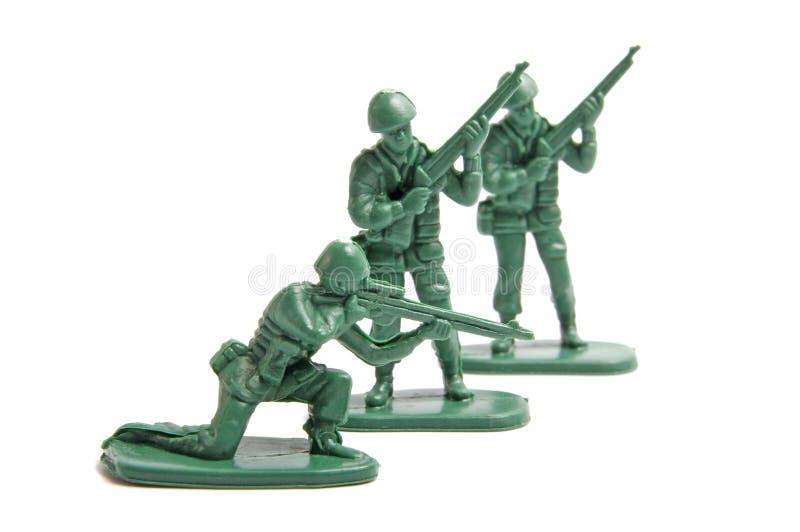 Drei Spielzeugsoldaten lizenzfreies stockfoto