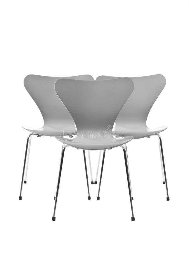 Drei Stühle lizenzfreie stockfotografie