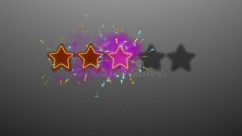 Drei Stern-Bewertungs-Illustration lizenzfreie abbildung