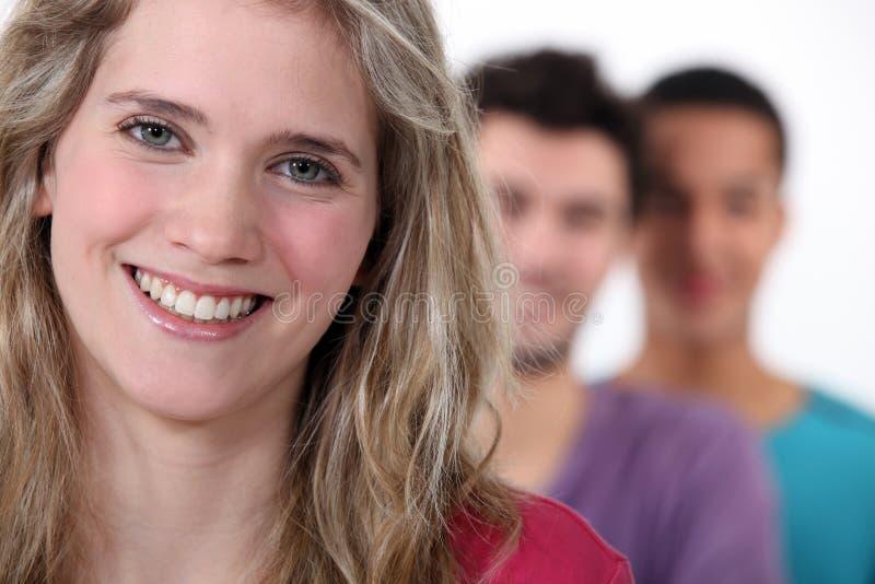 Drei Studenten lizenzfreies stockfoto