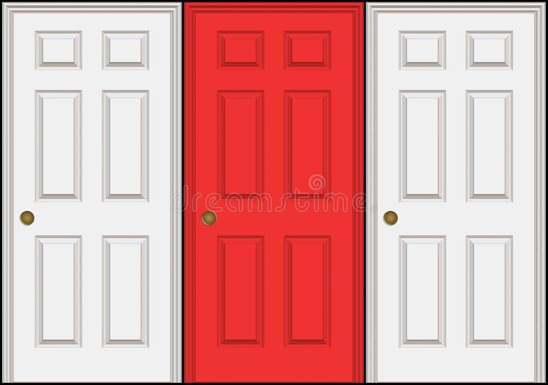 Drei Türen lizenzfreie abbildung