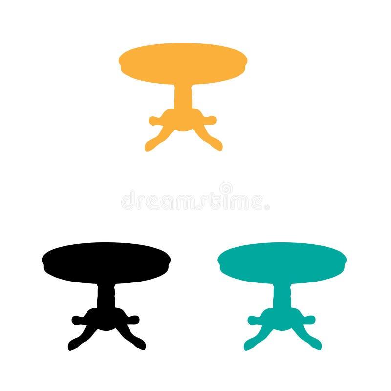 Drei Tabellen Gelb, Türkis und schwarze Tabellen vektor abbildung
