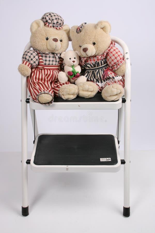 Drei Teddybären lizenzfreie stockfotos