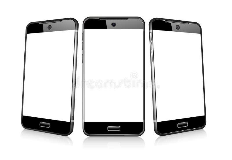 Drei Telefon-Zellintelligentes Mobile lizenzfreie abbildung