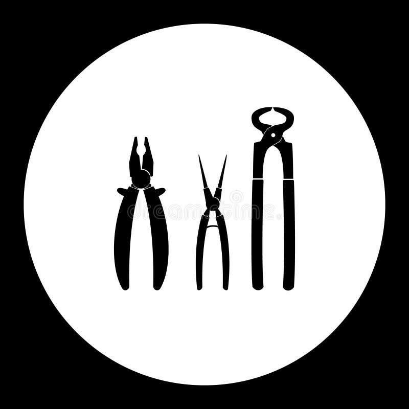 Drei Veränderungen von Zangen übergeben Werkzeugen einfache Ikone eps10 vektor abbildung