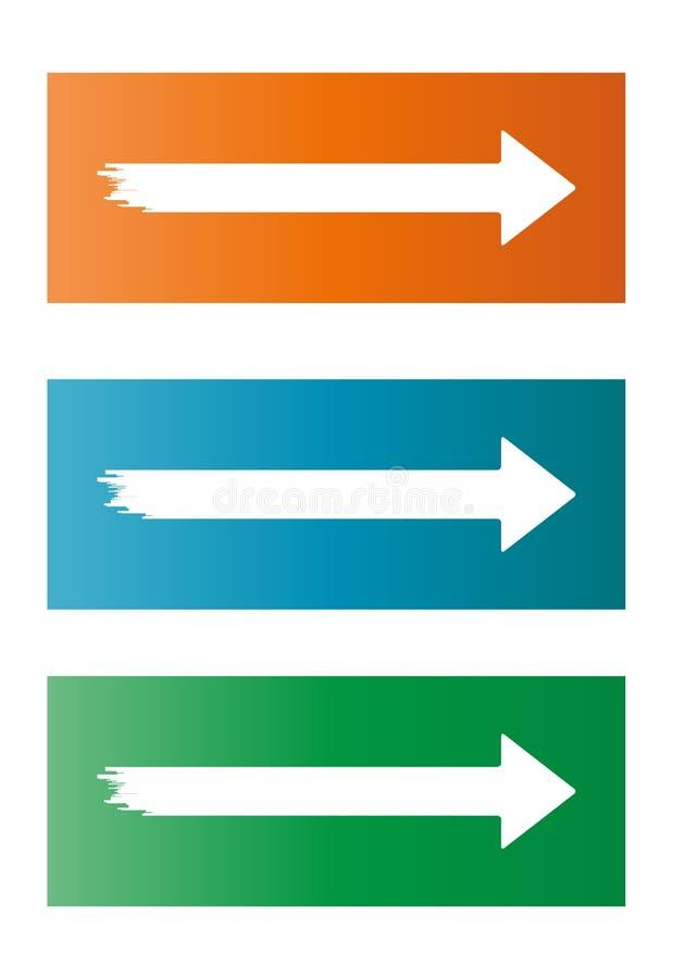 Drei verschiedene Pfeile stock abbildung