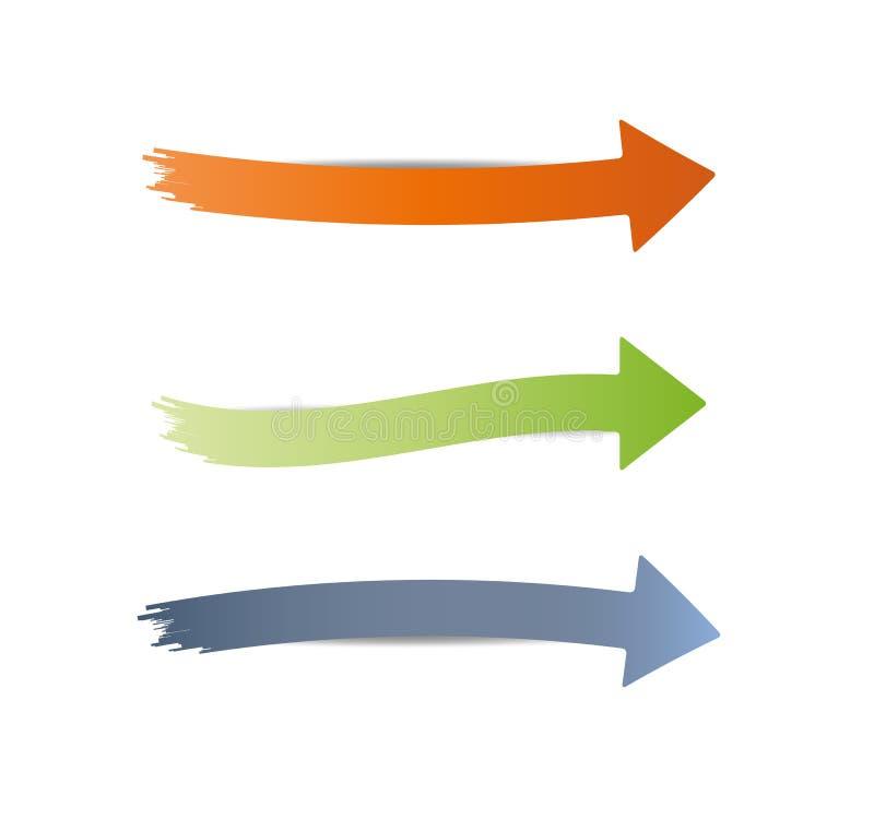 Drei verschiedene Pfeile vektor abbildung