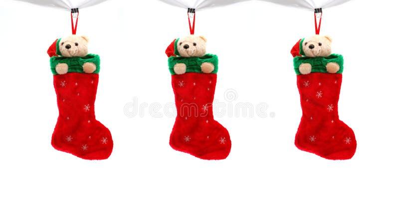 Drei Weihnachtsmatten stockbild