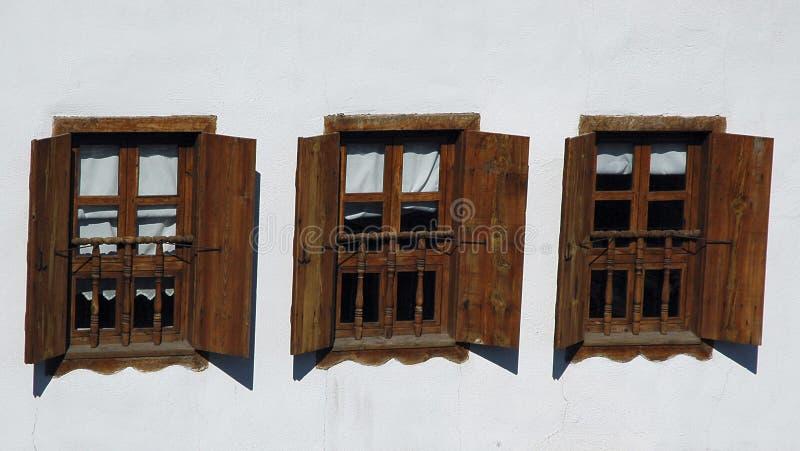 Drei Windows Lizenzfreies Stockfoto