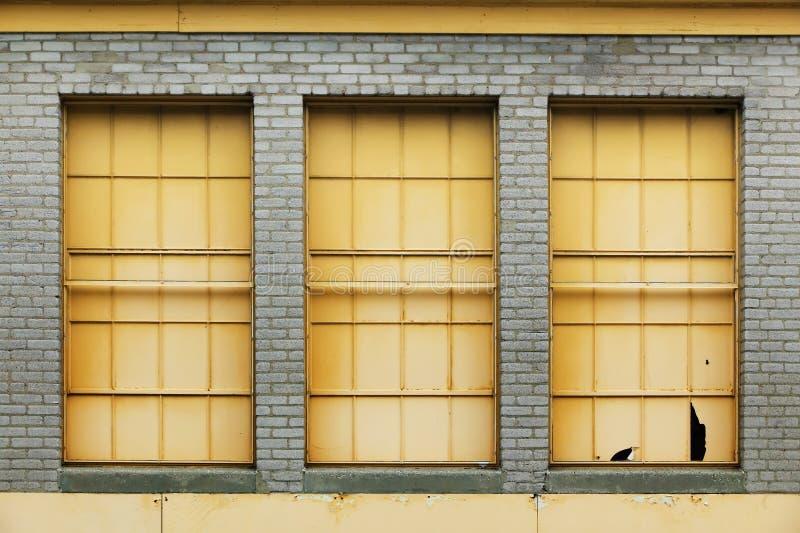 Drei Windows lizenzfreies stockbild